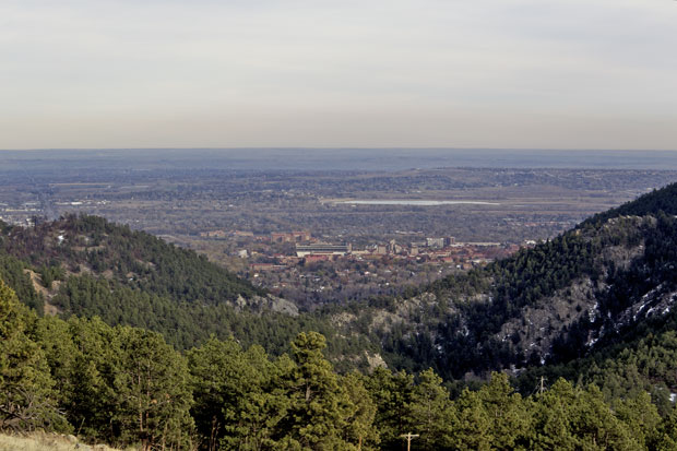 Looking Down on Boulder