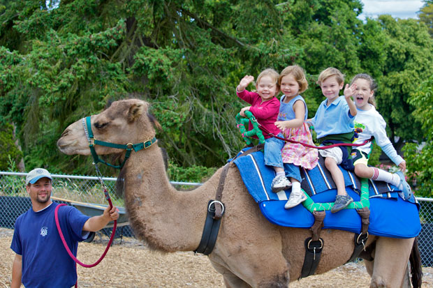 kids on camel