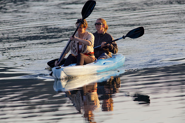 Margaux and Margaret kayaking