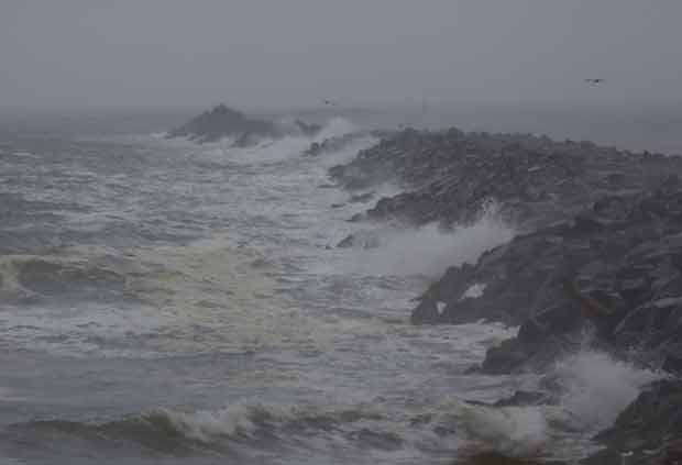 Storm on Jetty