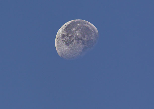 early-morning moon