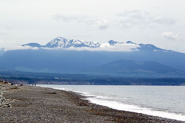 Olympics from Dungeness Spit
