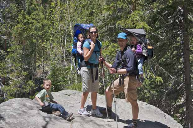 Family on Ouzel Fall trail