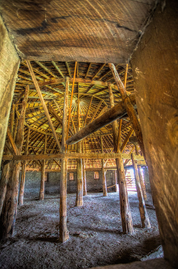 Interior of Pete French Round Barn