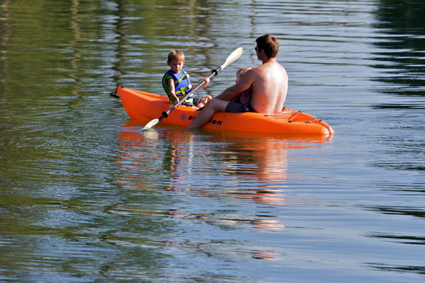 Cory and Logan Kayaking