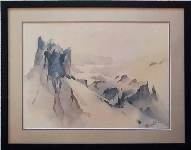 Mountain Peaks Watercolor