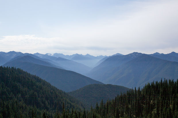 View of Mountains from Hurricane Ridge