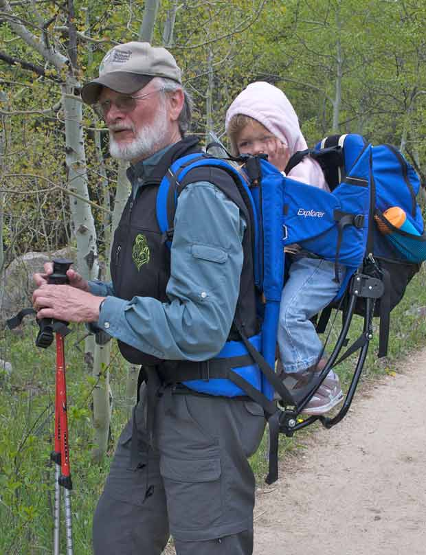 Grandpa with Granddaughter in pack